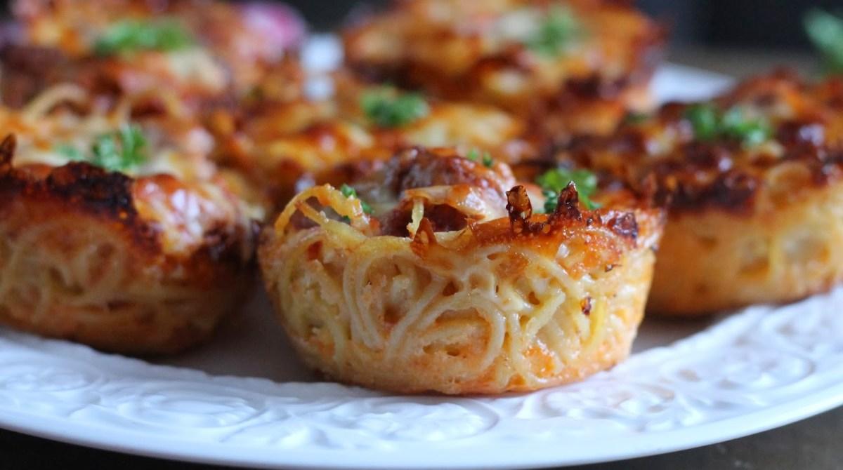 Spaghetti Pie Muffins Recipe
