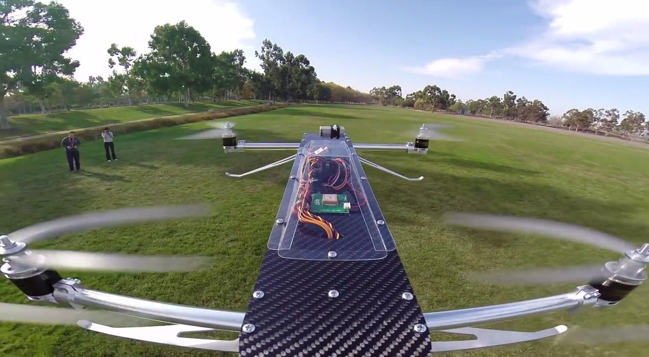 Tilt-Rotor Quad Goes Crazy Fast