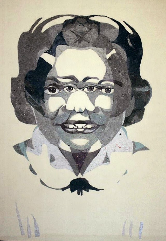 Tonya Corkey's Greyscale Portraits Made From Dryer Lint