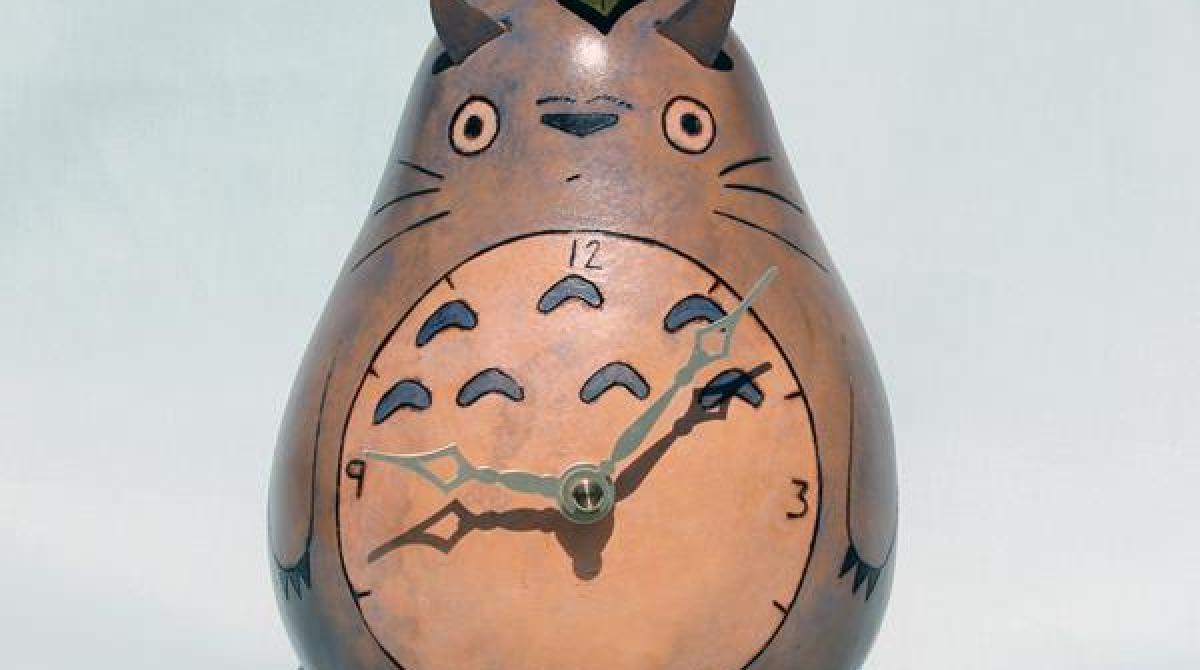 Totoro Gourd Clock