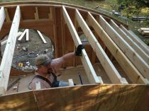 09 - roof beams going in - 12quot on centers
