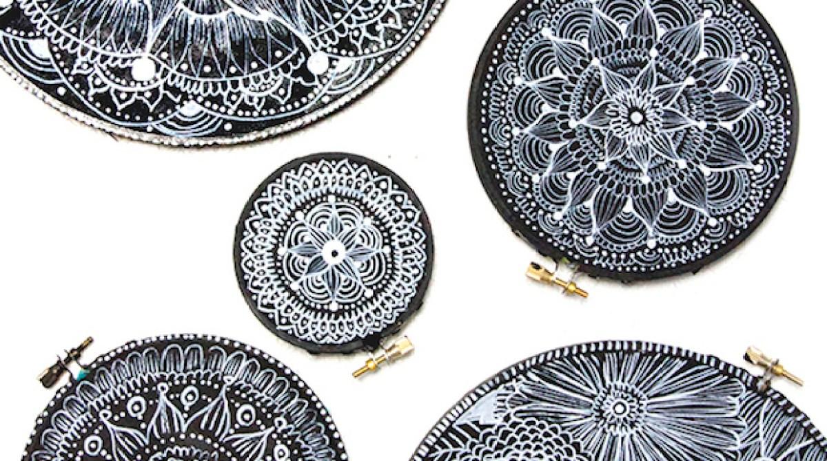 Embroidery Hoop Doodle Art