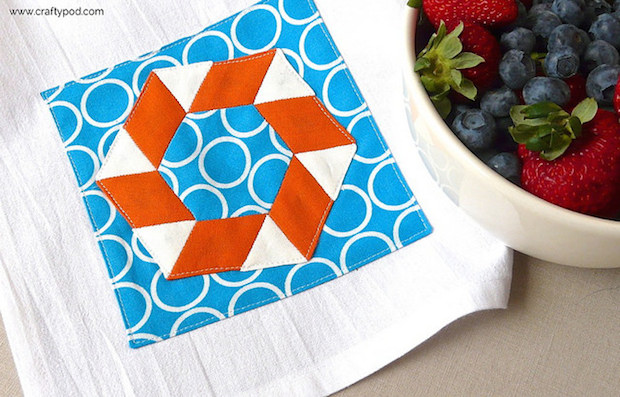 How-To: Pool Party Tea Towel English Paper Piecing Pattern