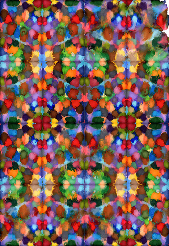 Daniel Eatock's Kaleidoscopic Ink Blot Paintings