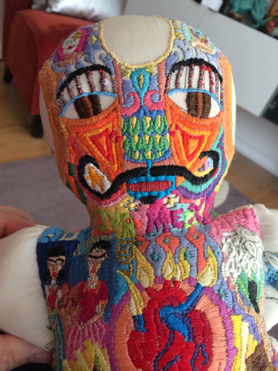 Embroidered Art Dolls From Recycled Materials