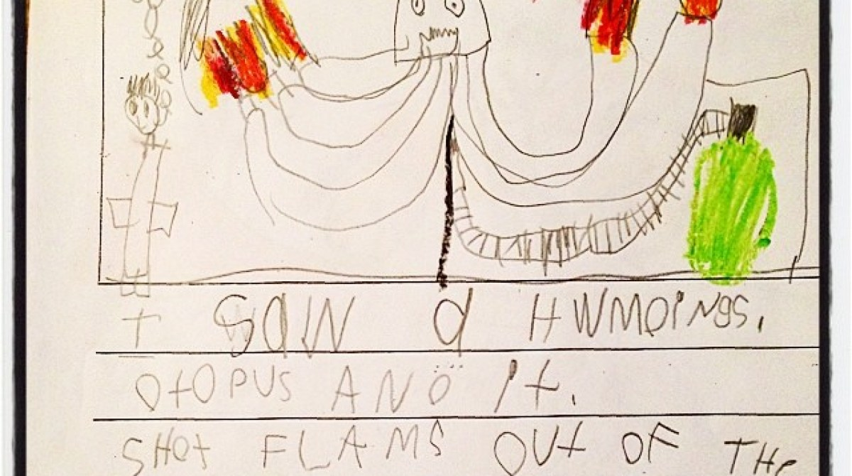 """6-Year-Old Evan Declares Flaming Octopus to be """"Cray-Cray"""""""