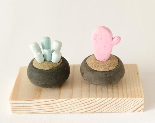 Miniature Potted Plant Sculptures by Iratxe Maruri