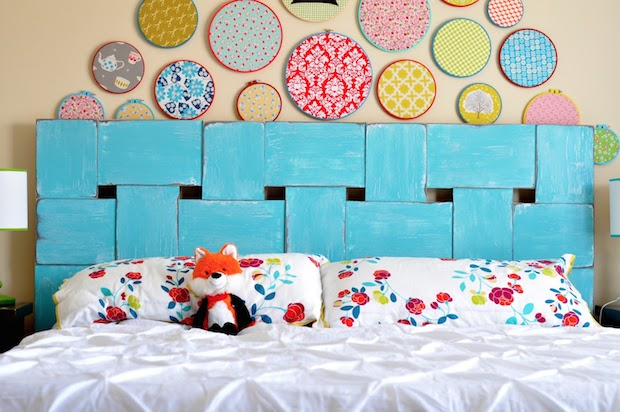 Article Featured Image & Decor Inspiration: Woven Wood Headboard | Make: