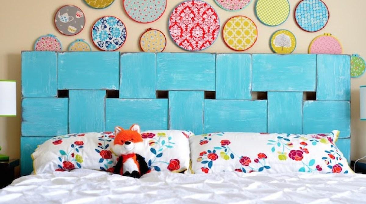 Decor Inspiration: Woven Wood Headboard