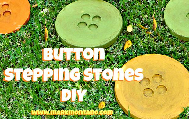 Crafty Garden: Button Stepping Stones