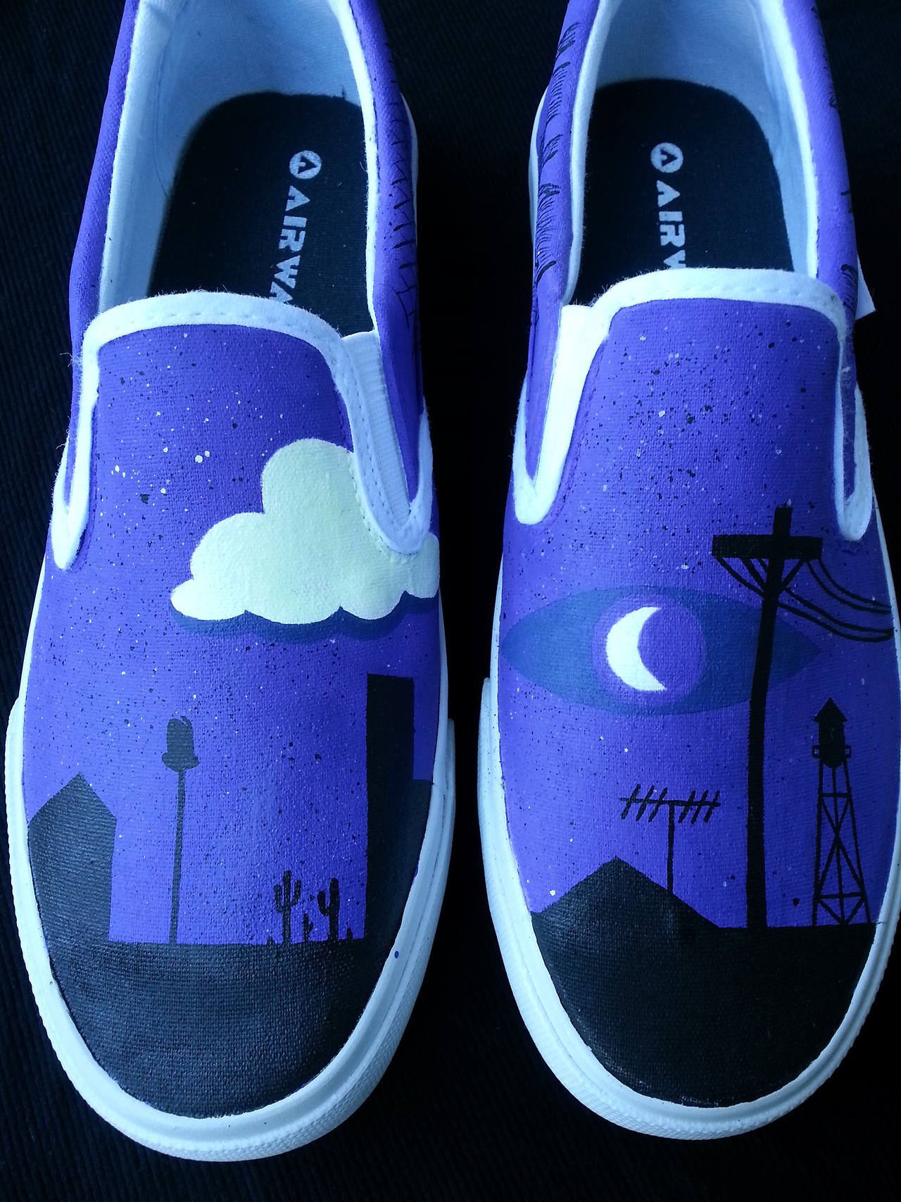 Welcome To Night Vale Glow Shoes