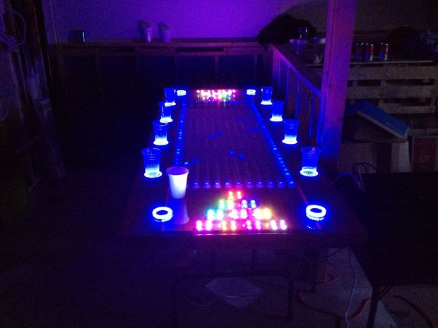 An LED Beer Pong Table to Rule them All!