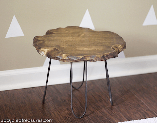 How-To: Rustic Stool with DIY Hairpin-Style Legs
