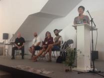 Community Building panel: Peter Troxler, James Brazil / MADE, Sabrina Merlo (me) / Maker Faire, Pedro Pineda / Betahaus, Cecilia Tham/ MOB