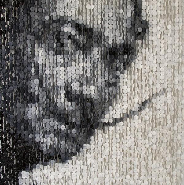Augusto Esquivel's Celebrity Button Portraits