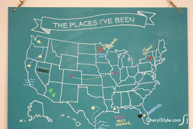 How-To: Chalkboard Travel Map