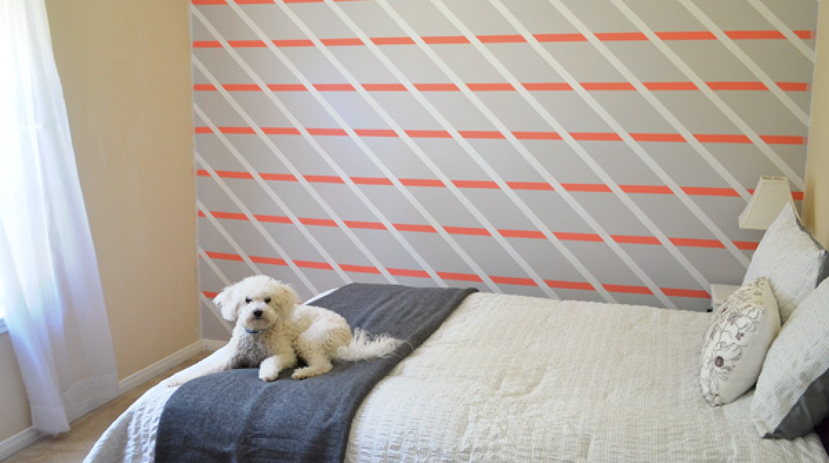 How-To: Paint a Diagonally Striped Accent Wall
