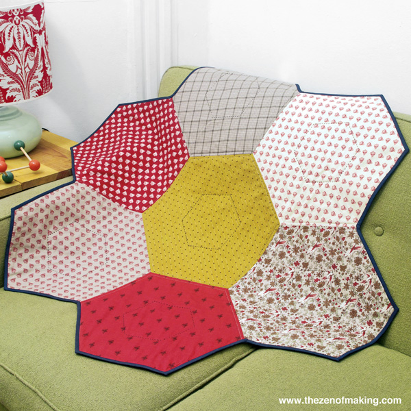 How-To: Giant Hexie Flower Lap Quilt