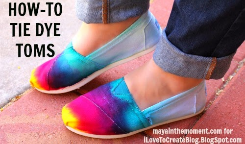 How-To: Tie-Dyed Canvas Shoes