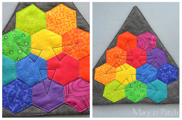 Sewing Tools: Quilted Hexagon Color Wheel