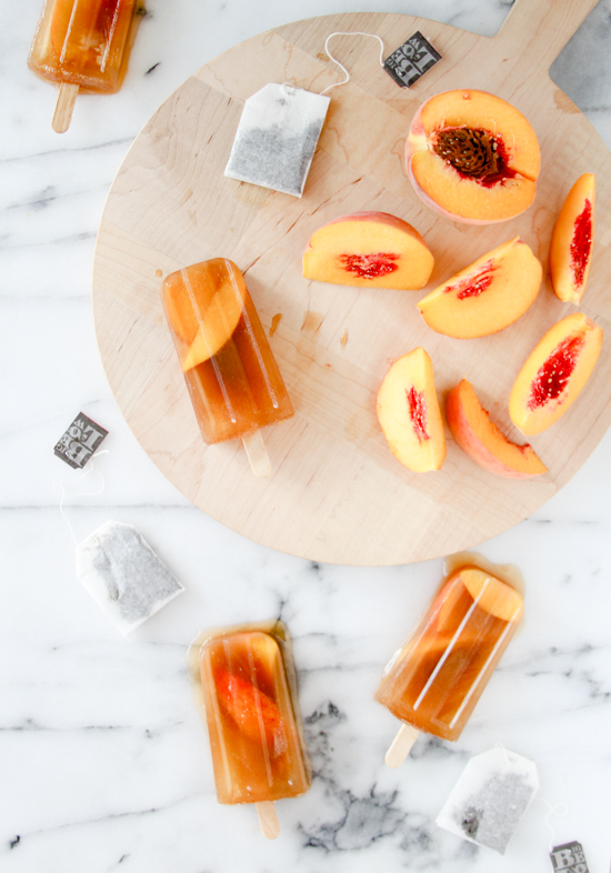Recipe: Sweet Peach Iced Tea Popsicles