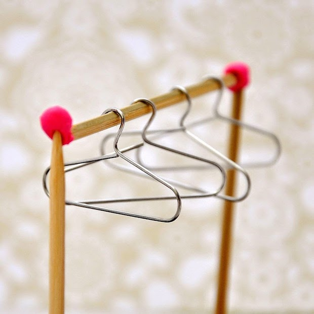 How-To: Turn Paperclips into Mini Hangers for Dolls or Displays