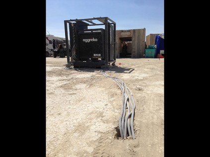 Power distribution via trench