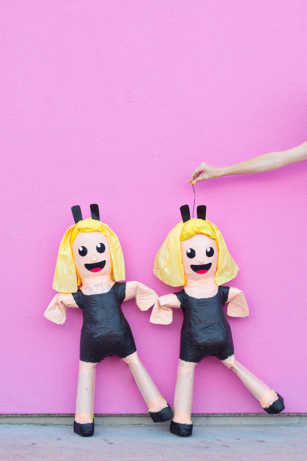 DIY Dancing Girls Emoji Piñata
