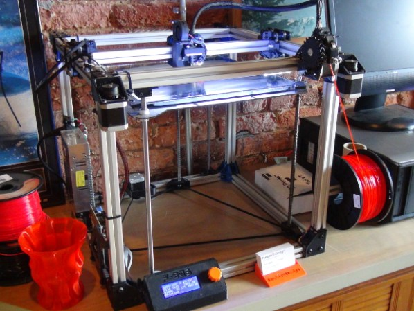 Fusion 3 Design 3D printer at The Forge, designed and manufactured by Chris Padgett of Greensboro