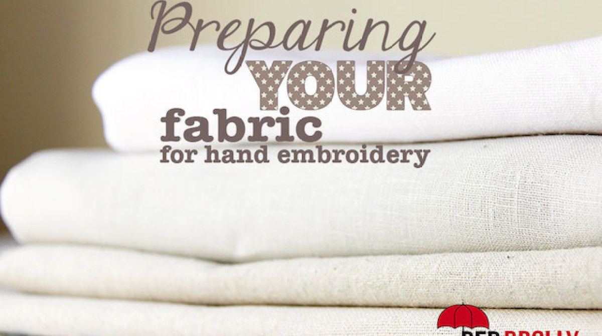 Sewing Tip: Preparing Your Fabric for Embroidery