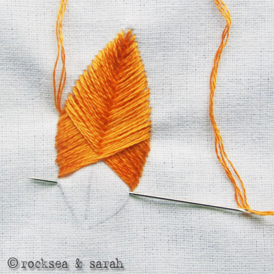 How-To: Make Feathers with Raised Fishbone Embroidery Stitch