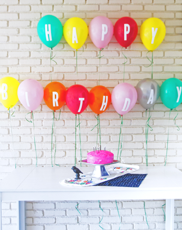 How-To: Lettered Balloon Banner