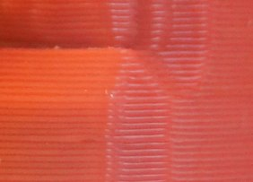 normal ridges from printing