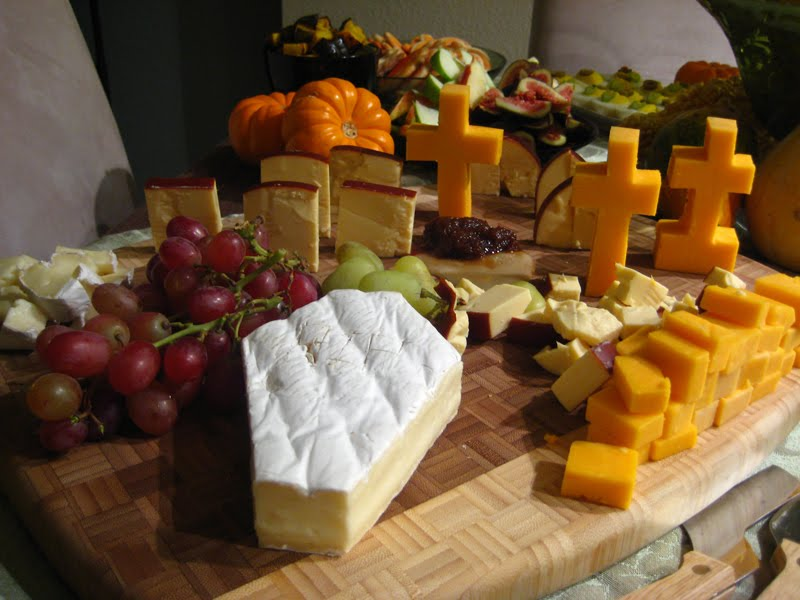 DIY Cheese Graveyard and Brie Coffin