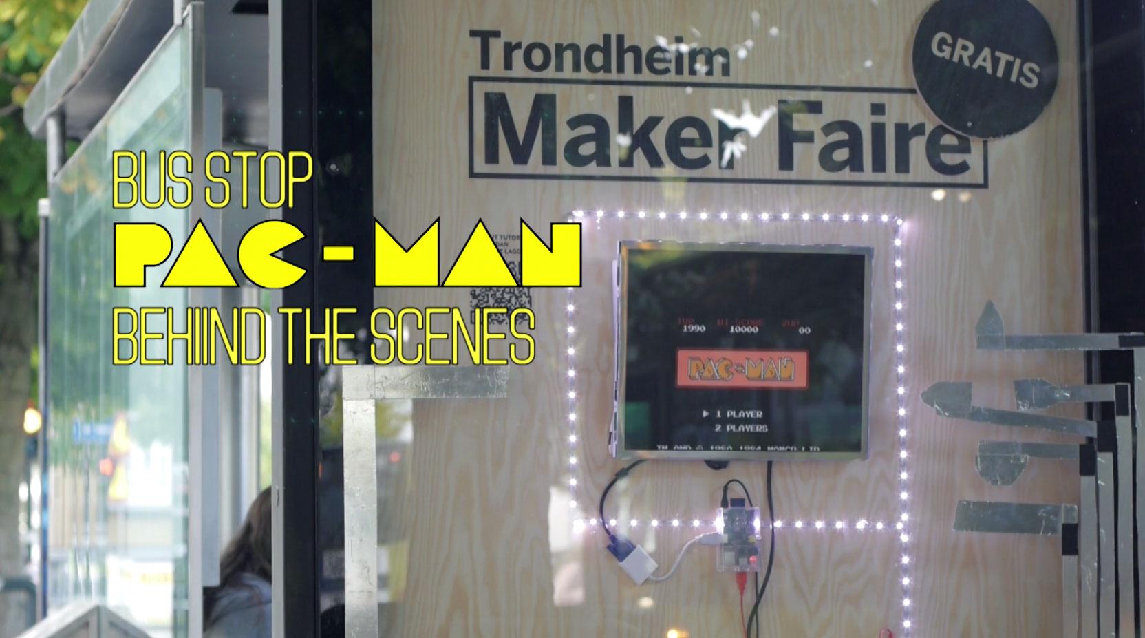 Raspberry Pi and MaKey MaKey Power Bus Stop Pac-Man