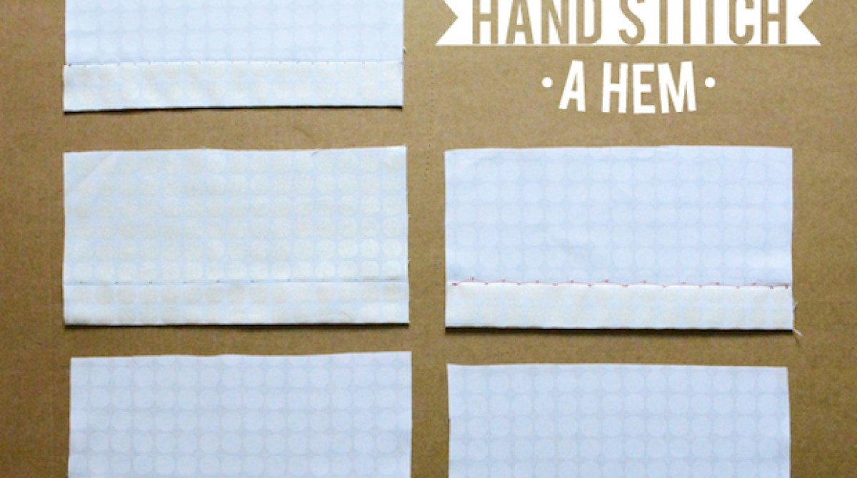 Sewing Tip: 5 Ways to Hand-Stitch a Hem
