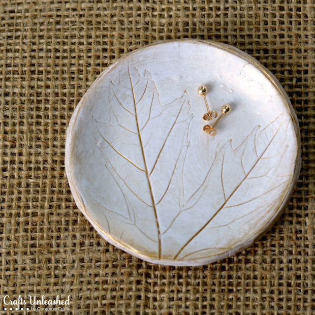 How-To: Decorative Polymer Clay Leaf Dish