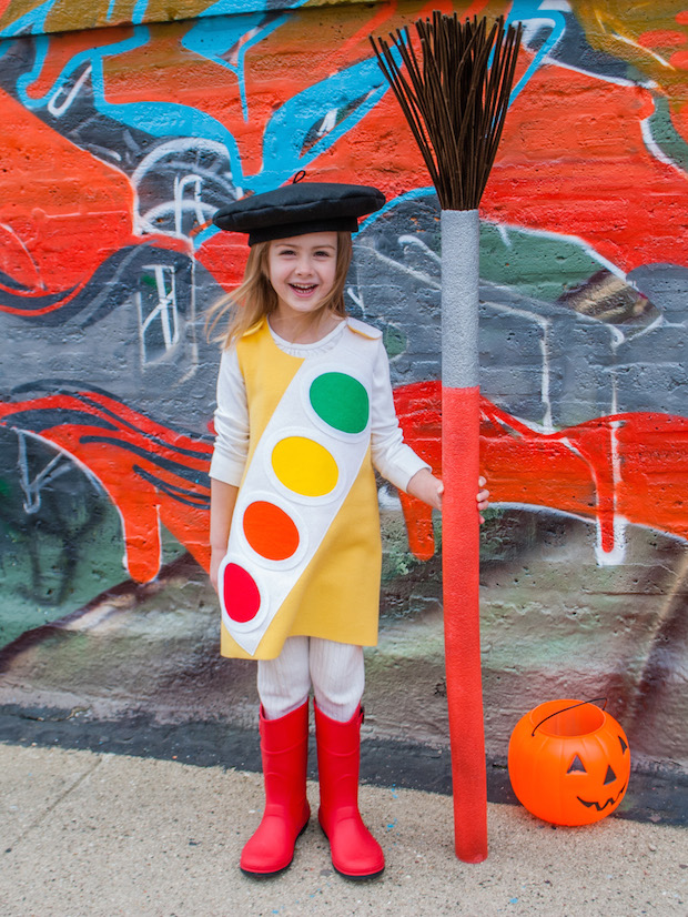 How-To: Watercolor Paintbox Halloween Costume