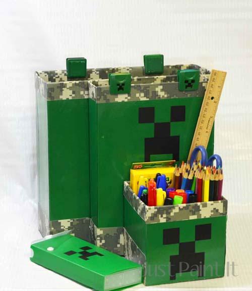 How-To: Minecraft-Inspired Desk Organizer