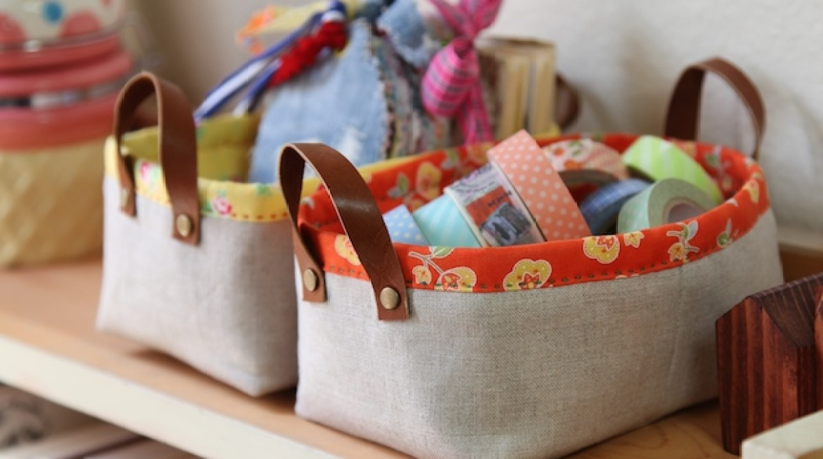 How-To: Fabric Storage Bins with Handles