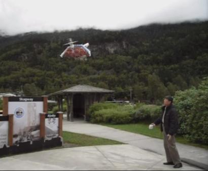 Test flight of Hello Peter while on a cruise in Alaska.