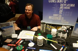 Wes Faler is developing small form-factor satellites (small Sat).