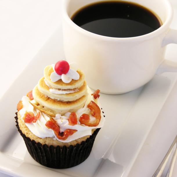Pancake and Bacon Cupcakes Recipe