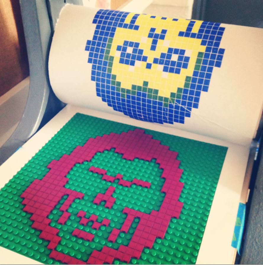 LEGO Print Making at Maker Faire Orlando
