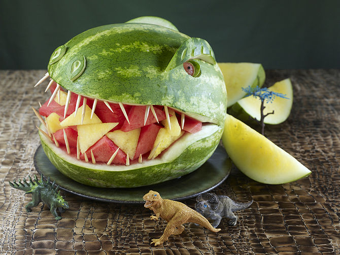 DIY Watermelon T-Rex