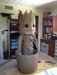DIY Dancing Baby Groot costume
