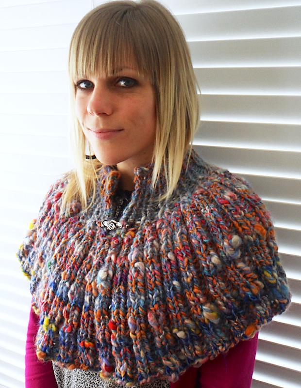 Knit It: Venetian Blind Capelet