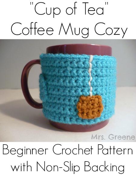 "How-To: Crocheted ""Cup of Tea"" Mug Cozy"