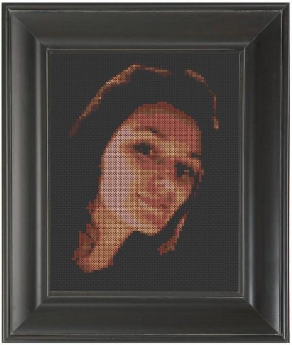 Pete Seazle's Cross-Stitched Portrait of Julie Sarloutte