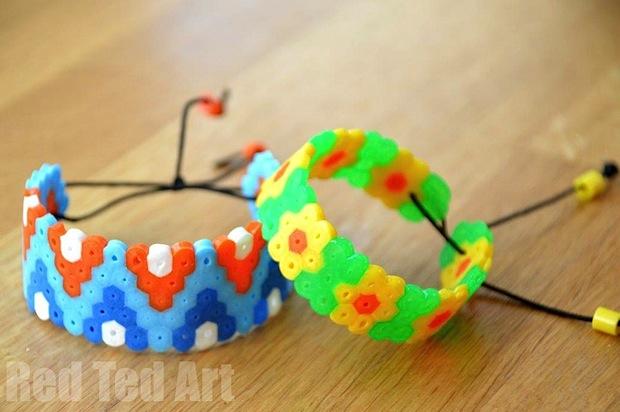 How-To: Patterned Hama/Perler Bead Bracelets